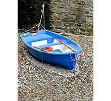 blue dinghy Photographic Print