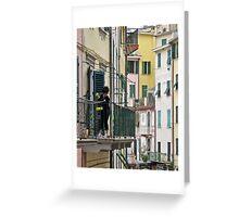 street scene in Riomaggiore Greeting Card