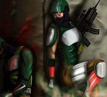 Bloody WAR poster by xalwaysondarunx