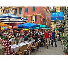 dining under umbrellas Photographic Print