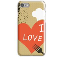 Cooking love iPhone Case/Skin