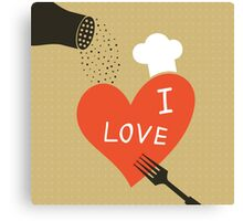 Cooking love Canvas Print
