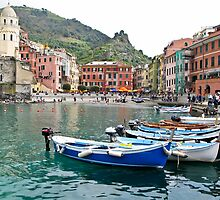 vernazza fishing village by Anne Scantlebury