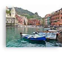 vernazza fishing village Canvas Print