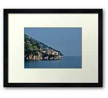 cinque terre coastline Framed Print