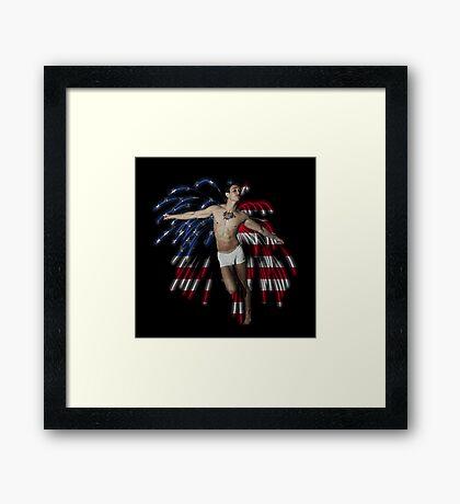 Firework Angel Framed Print