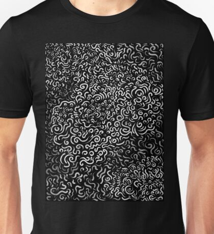 Random Curves - Black Unisex T-Shirt
