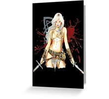 The Barbarian Girl Lagertha Greeting Card