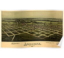 Panoramic Maps Ardmore Indian Territory 1891 Poster
