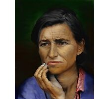 A mother`s Worry Photographic Print
