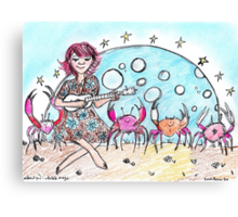 'Without You'...Dancing Crabs and Ukulele  Canvas Print