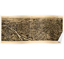 Panoramic Maps Bird's-eye-view of Allentown Pennsylvania Poster