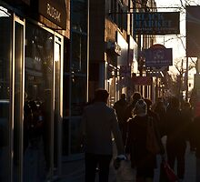 Queen Street Sidewalk Looking West From John by Gary Chapple