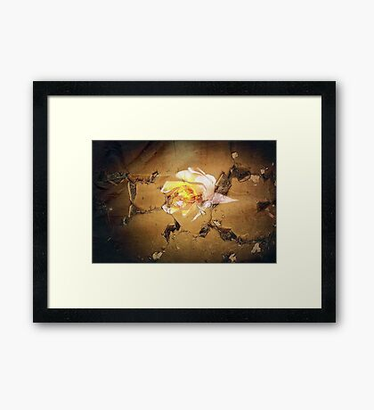 Damage Wallpaper Framed Print