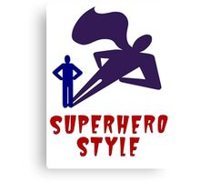 Superhero Style Canvas Print