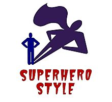 Superhero Style Photographic Print