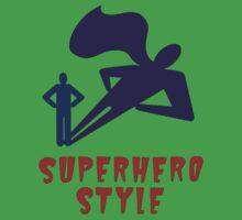 Superhero Style One Piece - Short Sleeve