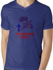 Superhero Style Mens V-Neck T-Shirt