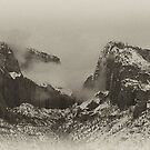 Black and White / Kolob Arches by Robbie Knight
