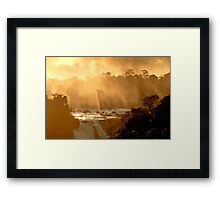 sunrays at Iguassu Falls Framed Print