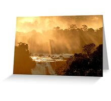 sunrays at Iguassu Falls Greeting Card