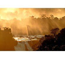 sunrays at Iguassu Falls Photographic Print