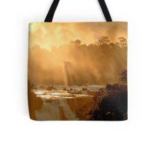 sunrays at Iguassu Falls Tote Bag