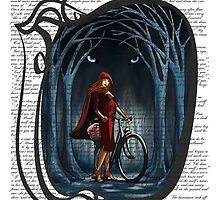 Art Nouveau RED RIDING HOOD by SFDesignstudio