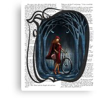Art Nouveau RED RIDING HOOD Canvas Print
