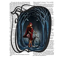 Art Nouveau RED RIDING HOOD Photographic Print