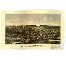 Panoramic Maps Alton and Alton Bay NH 1888 Poster