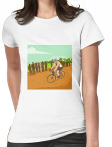 Cyclist Racing WPA Womens Fitted T-Shirt