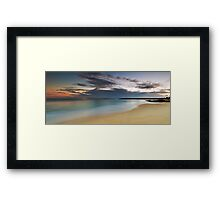 Jibbon Beach Panorama Framed Print