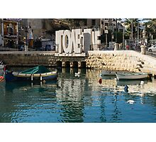 From St Julians With LOVE - Malta's Controversial Inverted Love Statue Photographic Print
