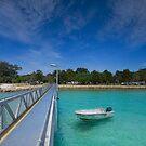 Amity Point Jetty - North Stradbroke Is. Qld Australia by Beth  Wode