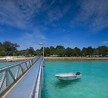 Amity Point Jetty - North Stradbroke Is. Qld Australia by Beth  Wode