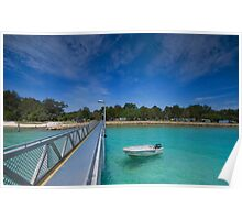 Amity Point Jetty - North Stradbroke Is. Qld Australia Poster