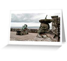 """""""Culzean Castle, Sea View"""" Greeting Card"""