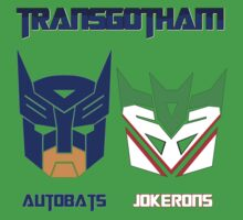 Batman and Transformers - TransGotham Kids Tee