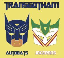 Batman and Transformers - TransGotham One Piece - Short Sleeve