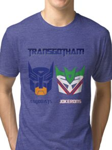 Batman and Transformers - TransGotham Tri-blend T-Shirt