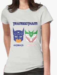 Batman and Transformers - TransGotham Womens Fitted T-Shirt
