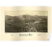 Panoramic Maps Haydenville Mass 1886 Poster