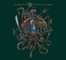 Ancient Ninja Xenomorphs (colours) T-Shirt