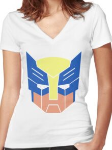 Wolverine Transformers Retro Style Women's Fitted V-Neck T-Shirt
