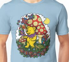 Grateful Dead dancing bear, fairy bears and mushrooms Unisex T-Shirt