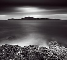 Silent Shores - B&W by Michael Howard