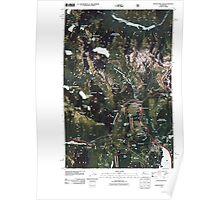 USGS Topo Map Washington State WA Snoqualmie Pass 20110428 TM Poster