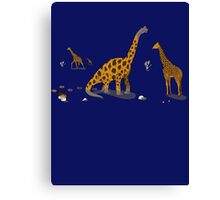 Brachiosaurus on dark Canvas Print
