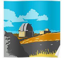 Mt John Observatory Lake Tekapo WPA Poster